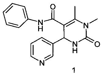 3,4-диметил-6-(3-пиридил)-N-фенил-2-оксо-1,2,3,6-тетрагидропиримидин-5-карбоксамид, проявляющий противогрибковое действие в отношении штамма Candida albicans