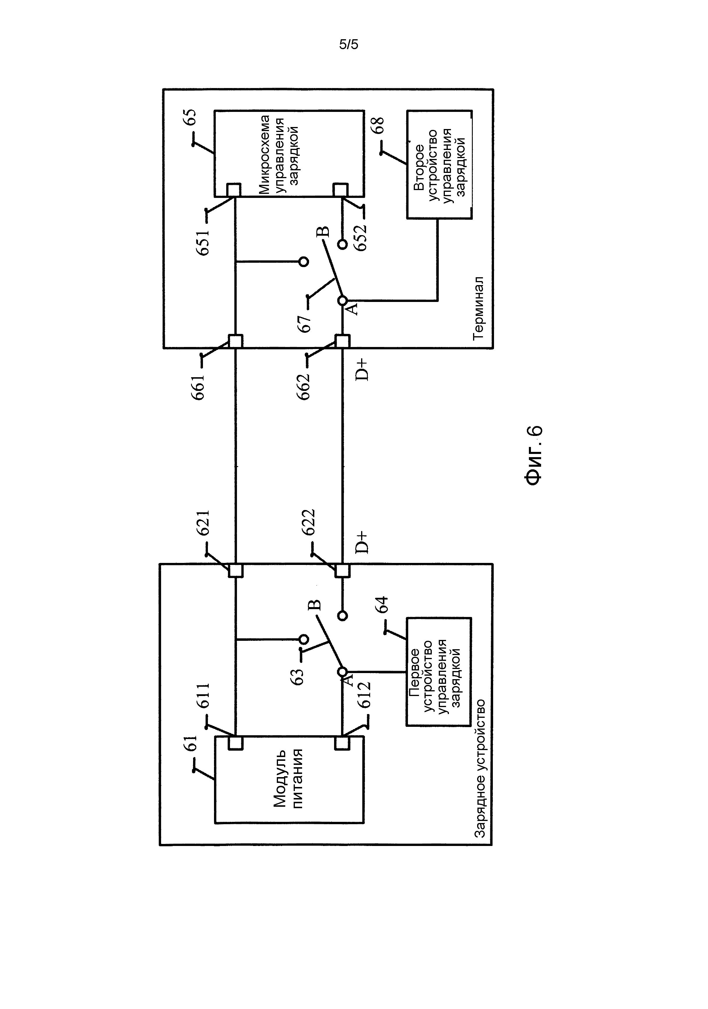 Зарядное устройство, зарядный терминал, зарядная система и способ управления зарядкой