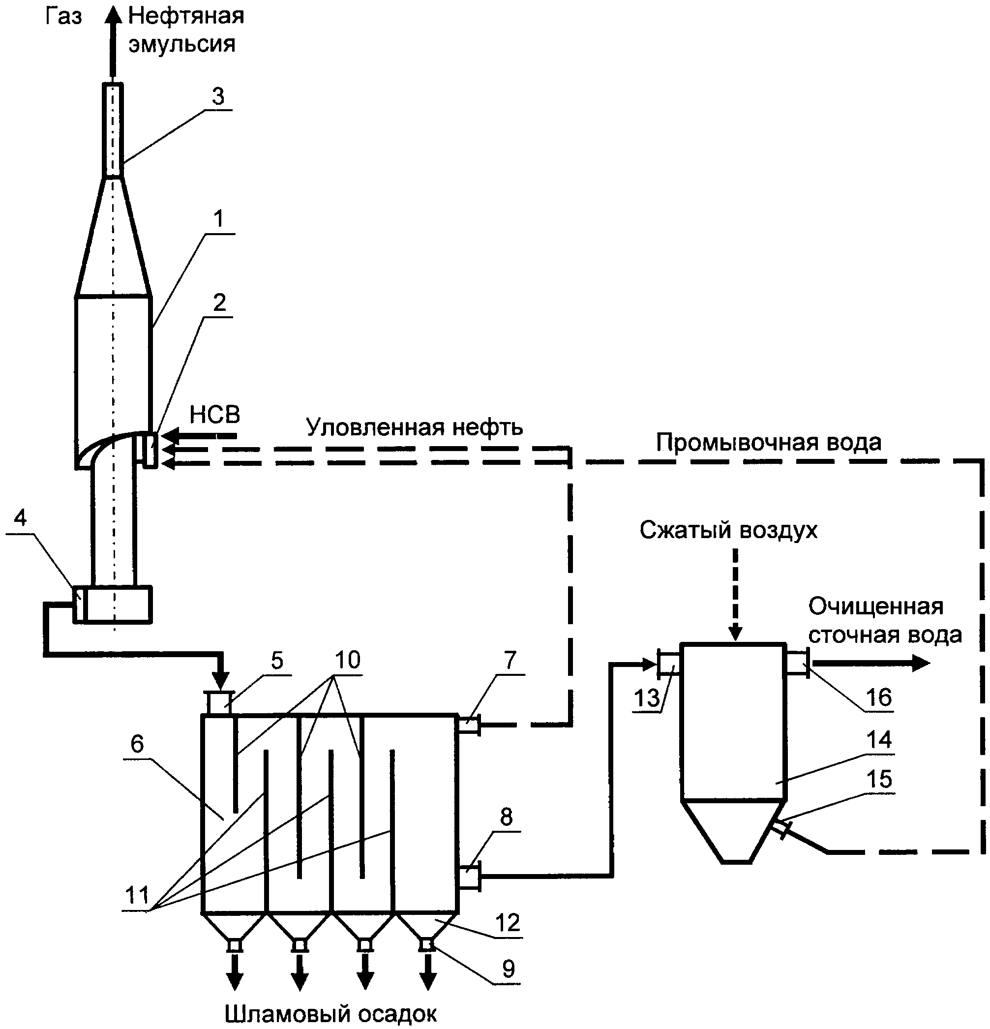 Установка для очистки нефтепромысловых сточных вод для закачки в пласт