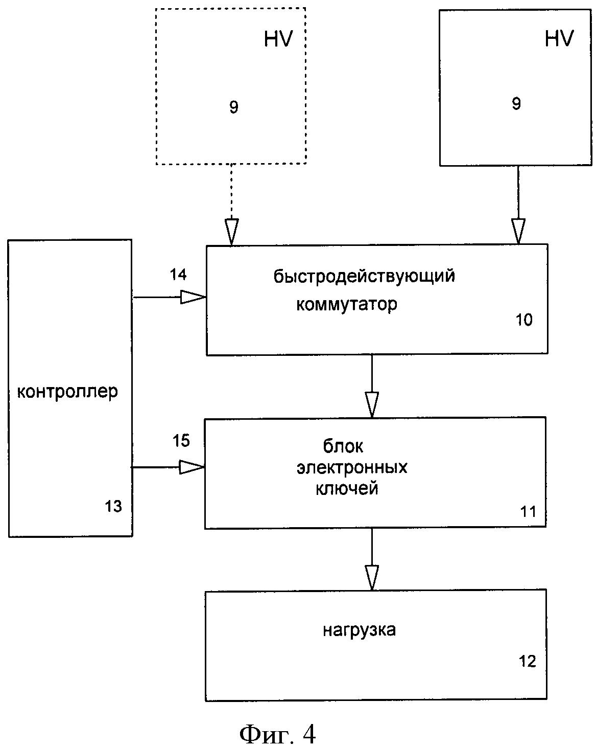 Высоковольтный коммутатор с динамическим ограничением энергии