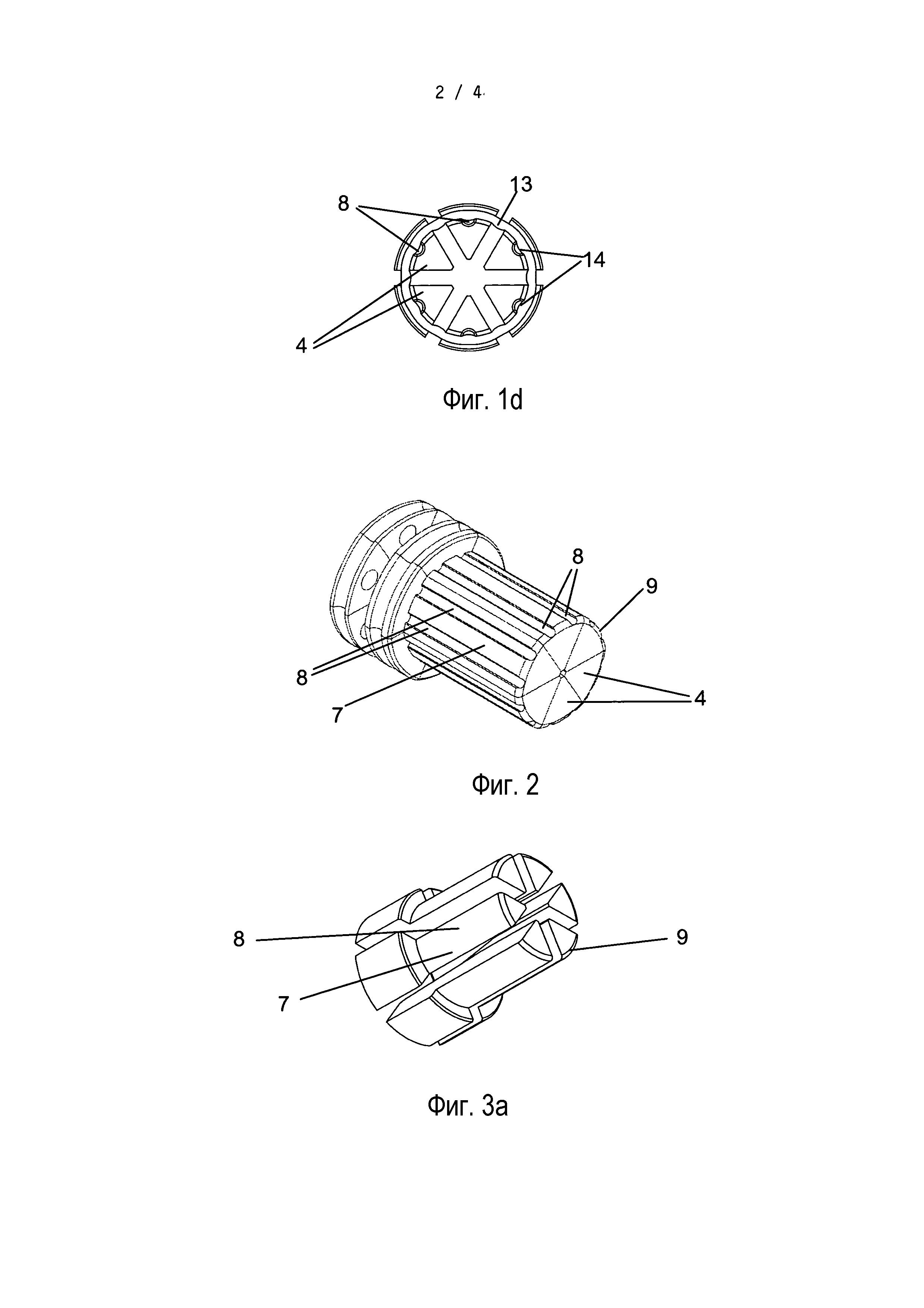 Раздвижная головка к инструментам для раздачи, содержащий ее раздвижной инструмент и их применение