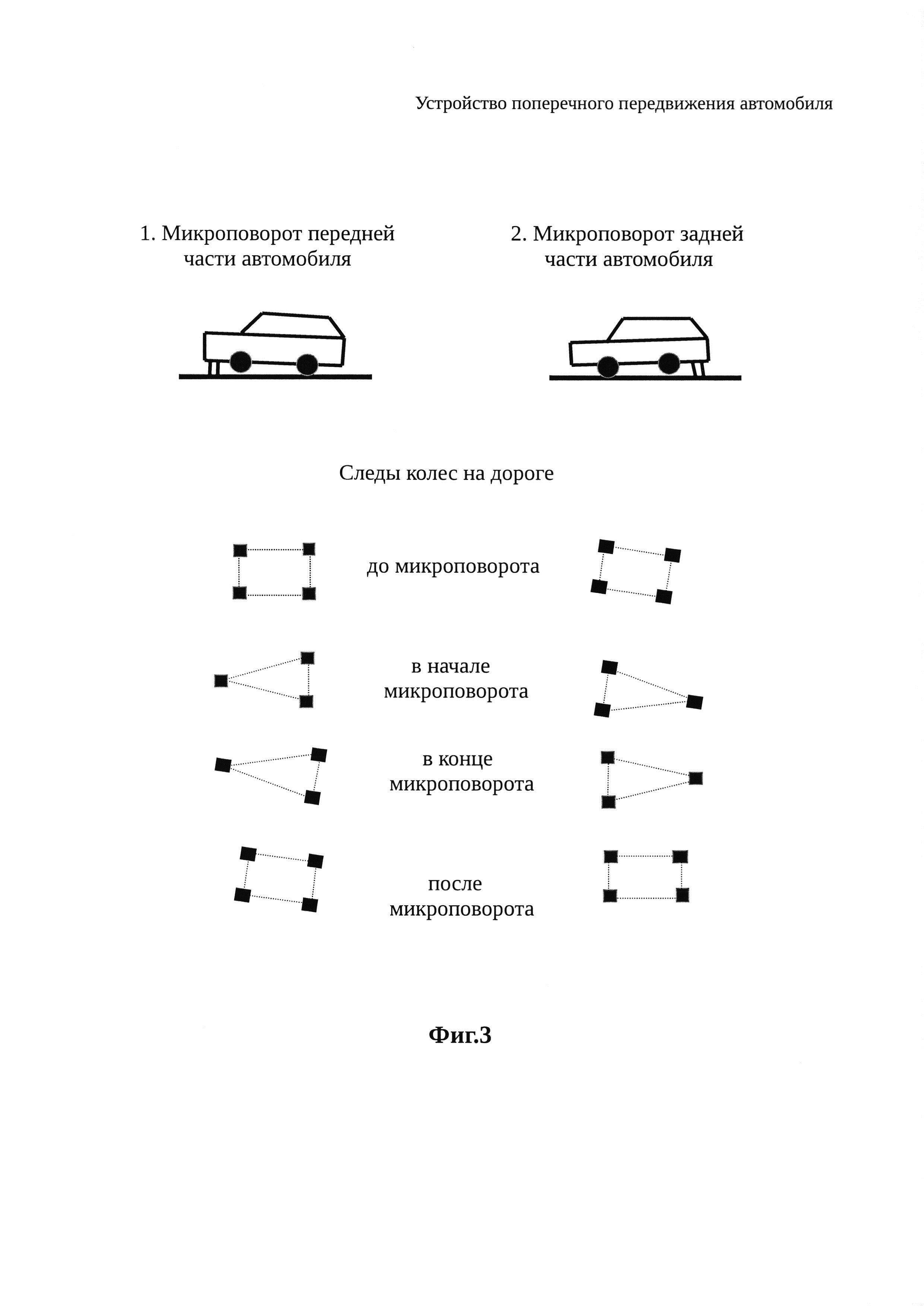 Устройство поперечного передвижения автомобиля