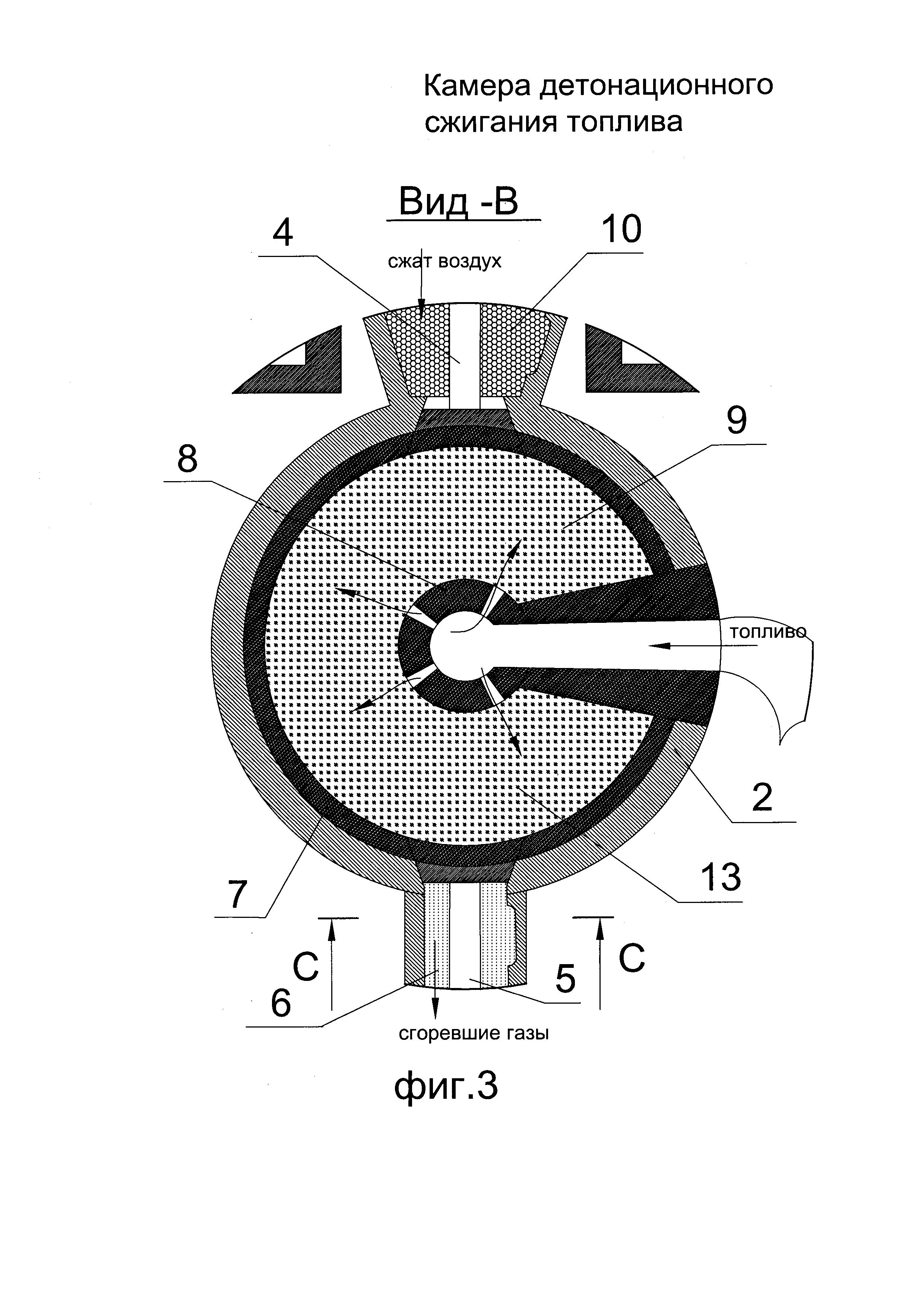 Камера детонационного сжигания топлива (варианты)