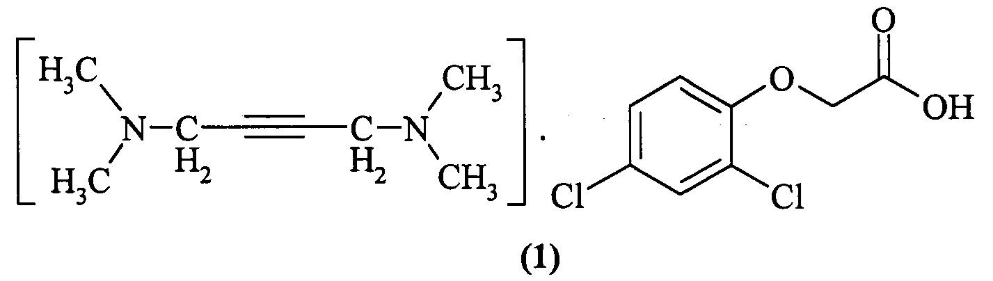 Соль n,n,n,n-тетраметил-2-бутин-1,4-диамина с 2,4-дихлорофеноксиацетатом, проявляющая гербицидную активность, и способ ее получения