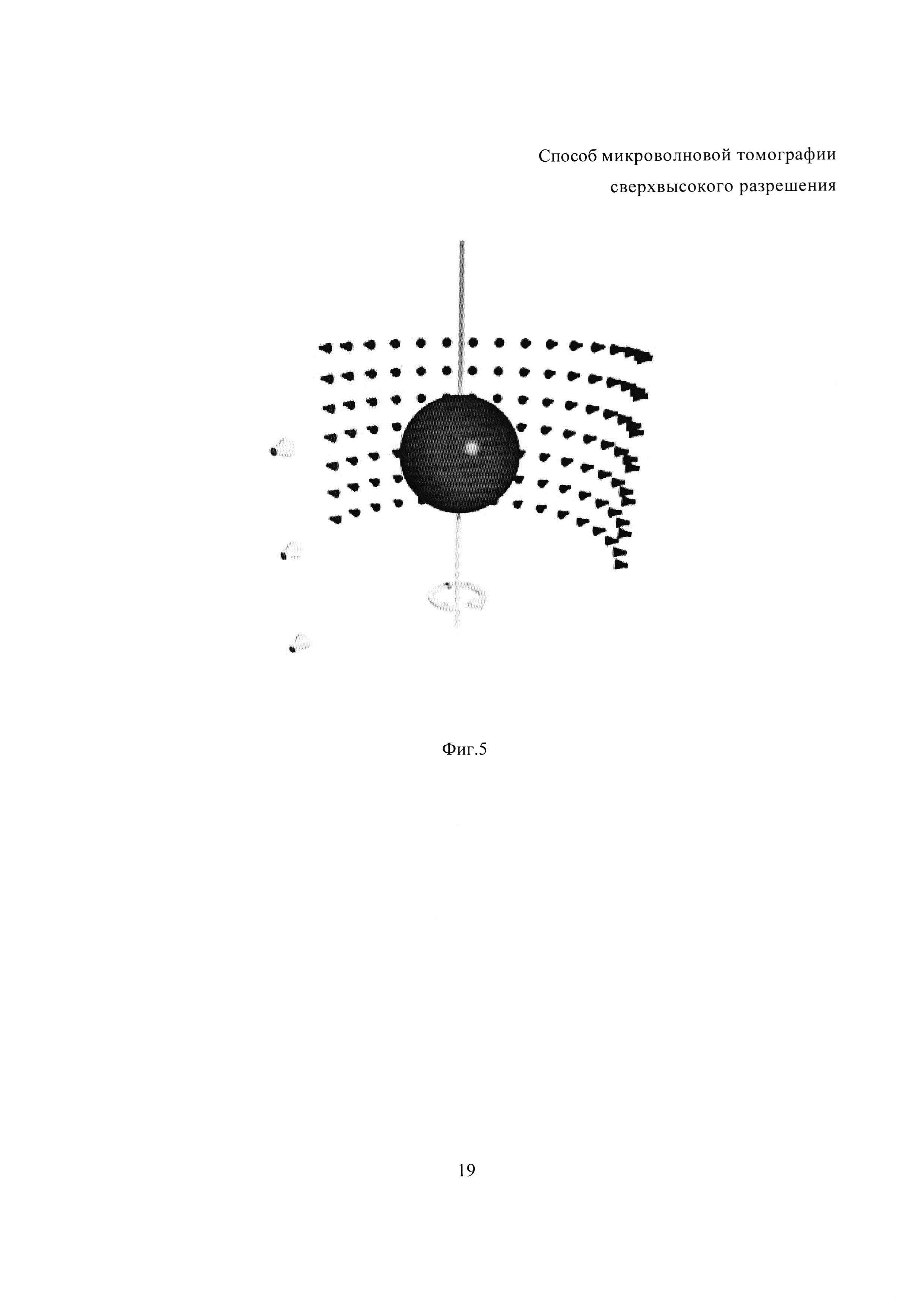 Способ микроволновой томографии сверхвысокого разрешения