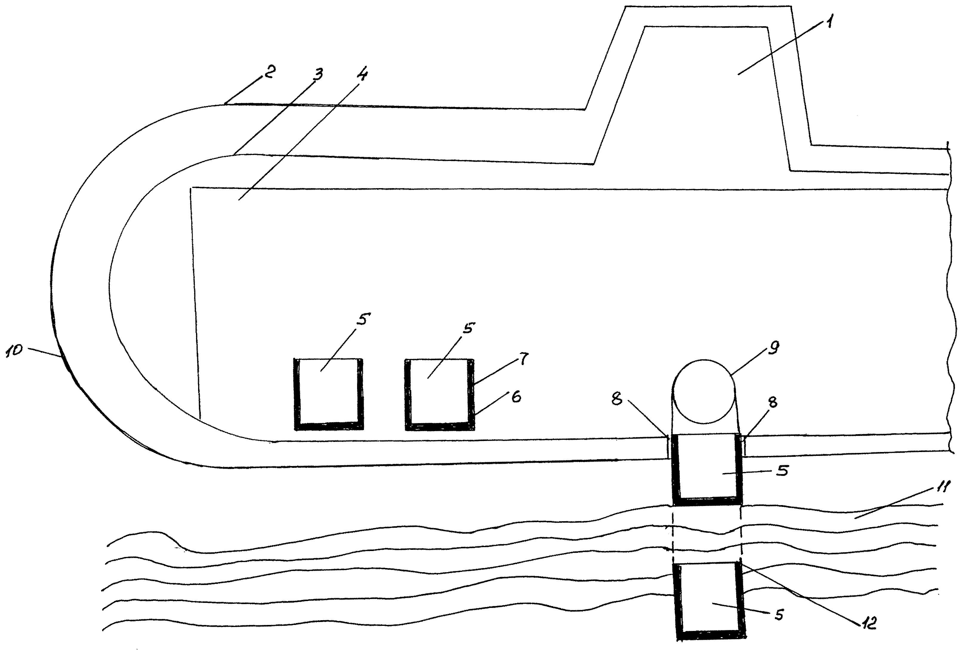 Способ добычи и транспортировки газовых гидратов донных отложений и подводная лодка для добычи и транспортировки газовых гидратов