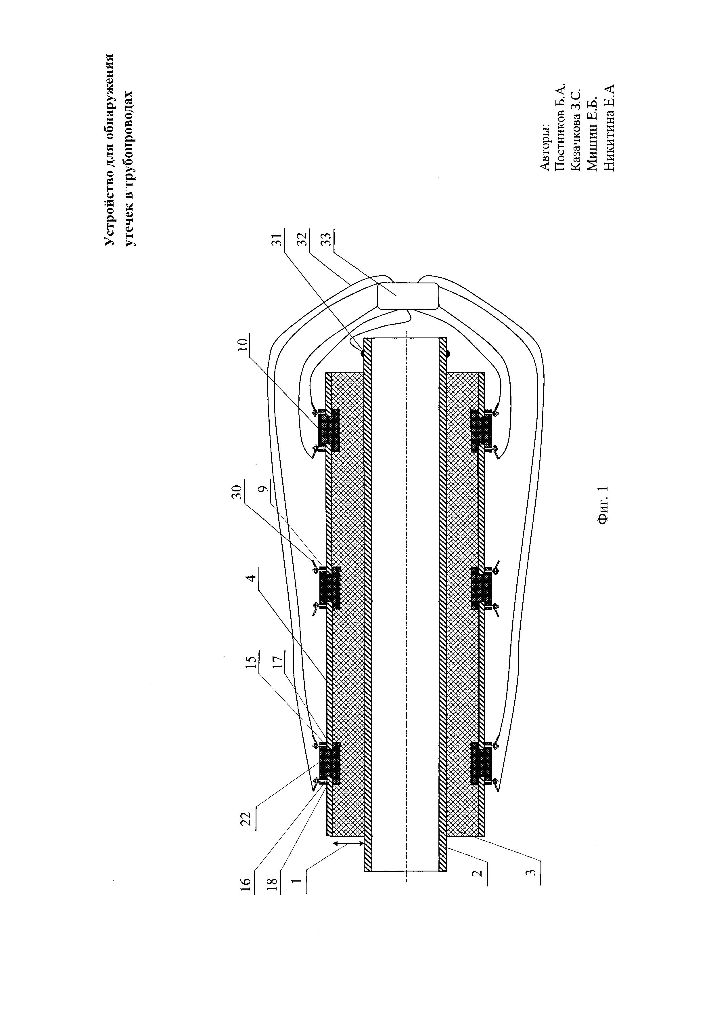 Устройство для обнаружения утечек в трубопроводах