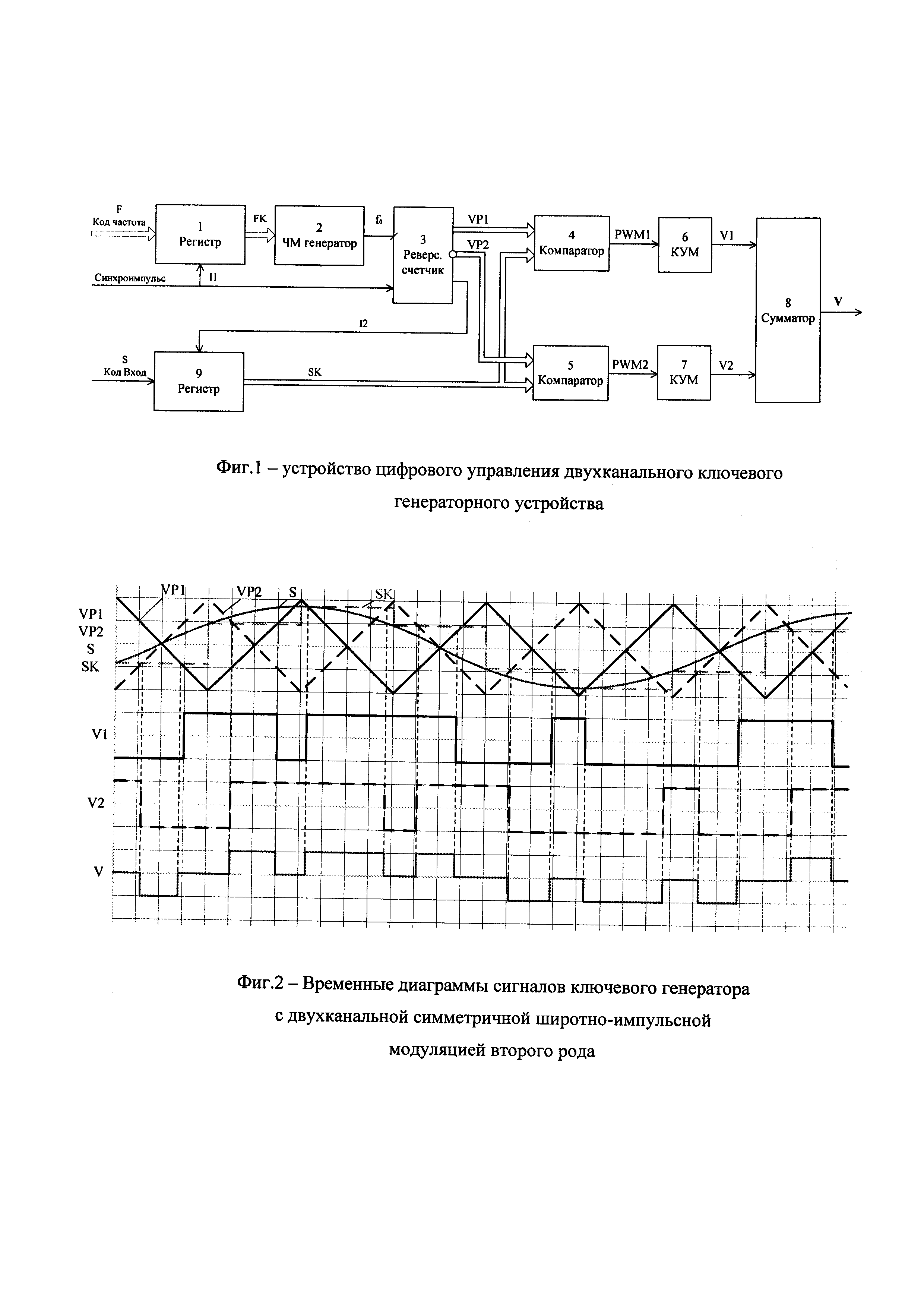 Способ цифрового управления ключевым генераторным устройством ультразвукового диапазона
