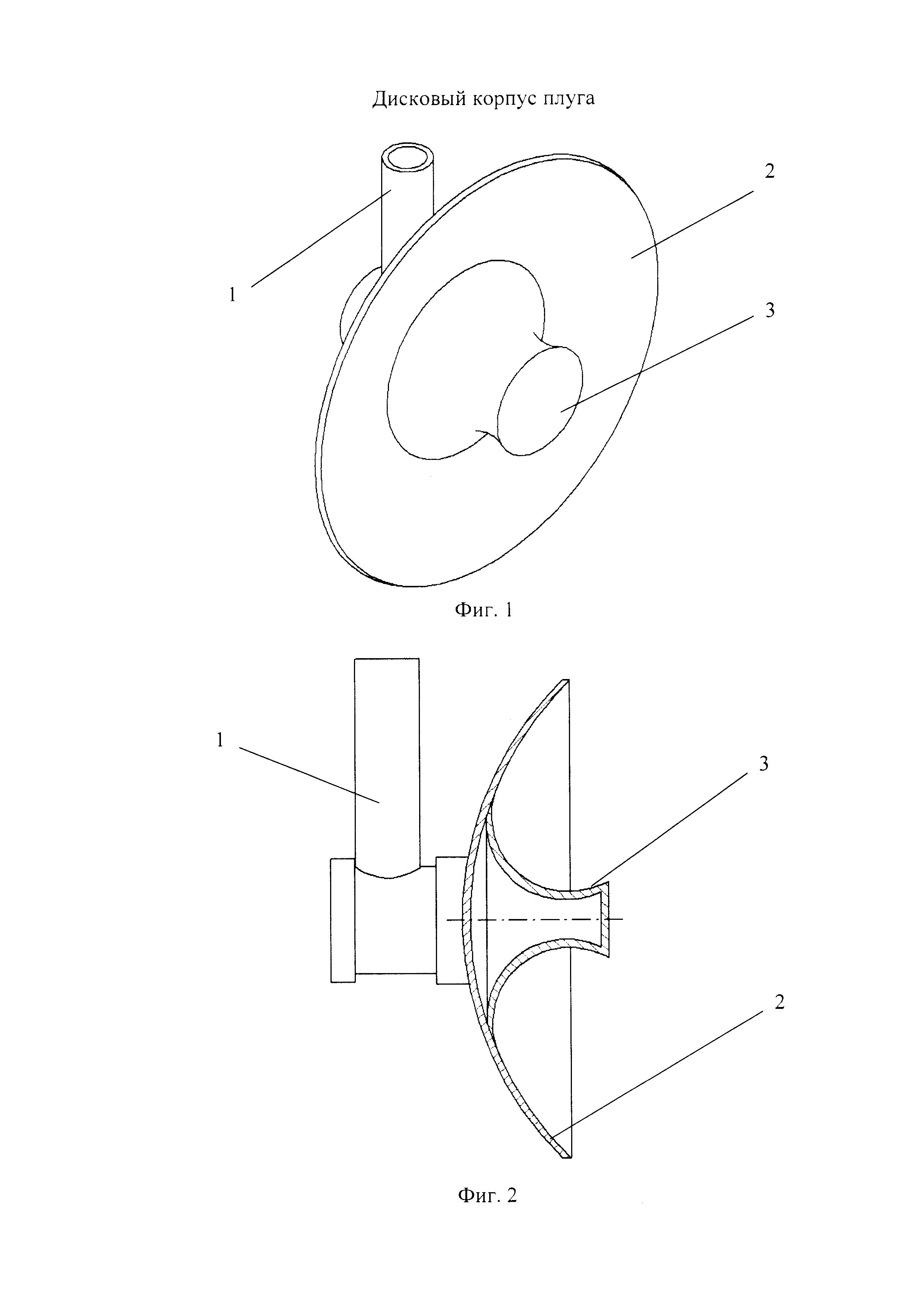 Дисковый корпус плуга