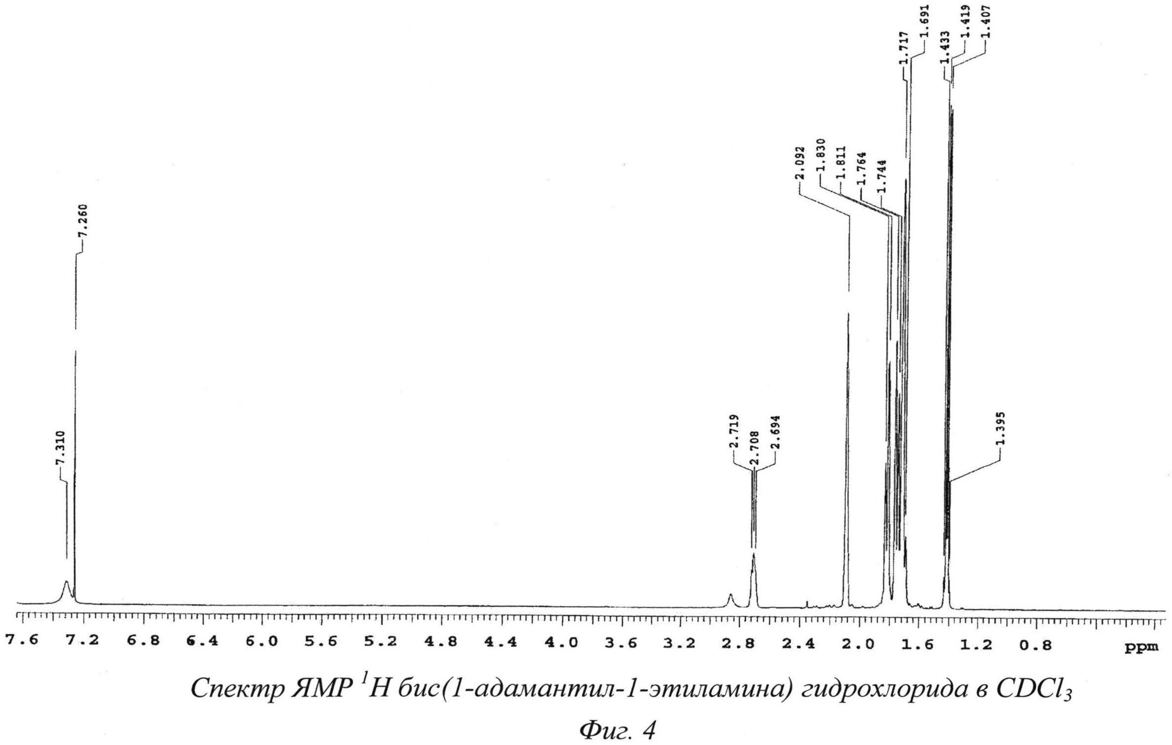 N,n-бис(1-адамантил-1-этиламина) гидрохлорид и способ его получения