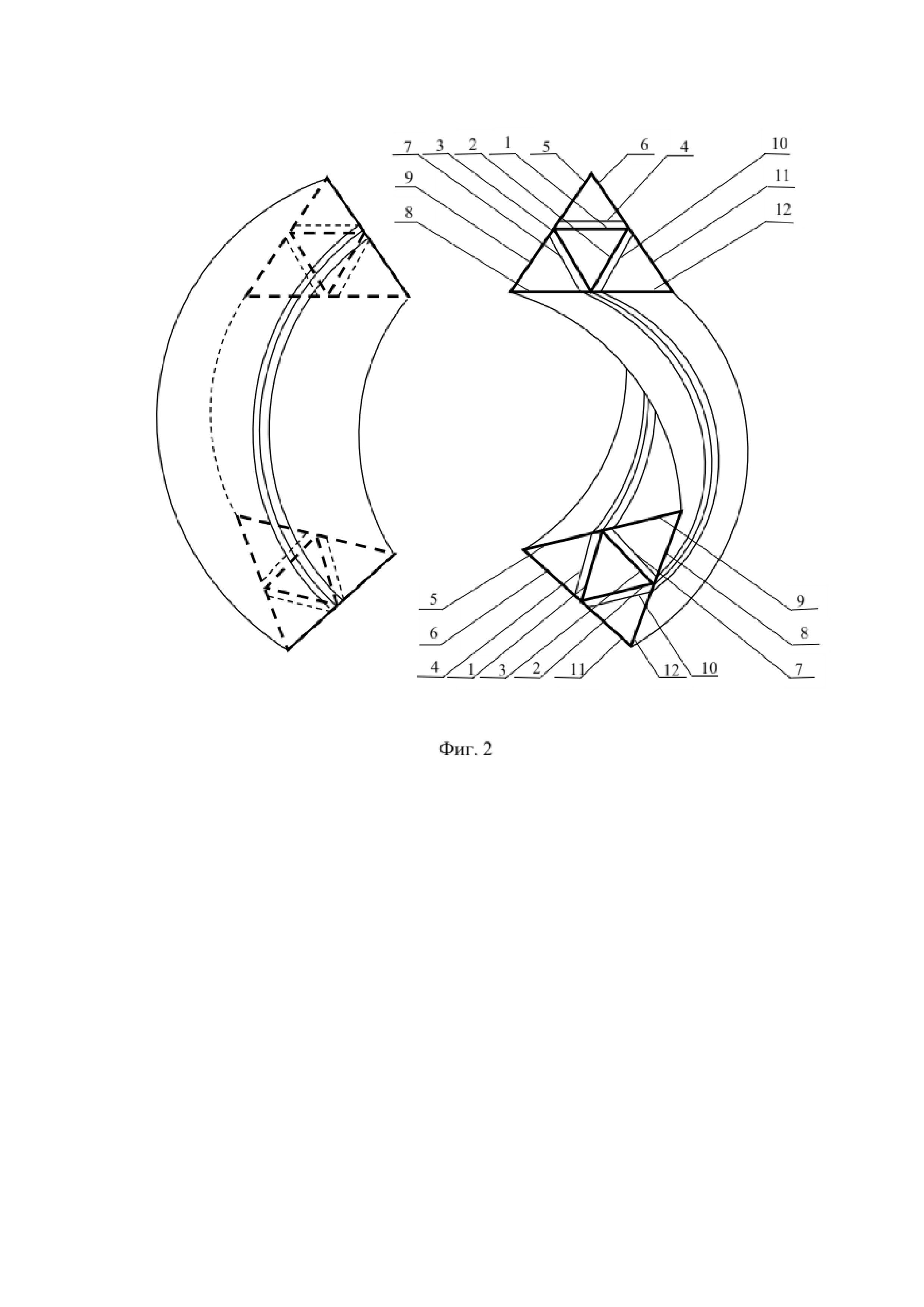 Фрактальные взаимосвязанные резонаторы сверхвысокочастотных электромагнитных колебаний в виде диэлектрических трехгранных односторонних поверхностей с металлическими обкладками