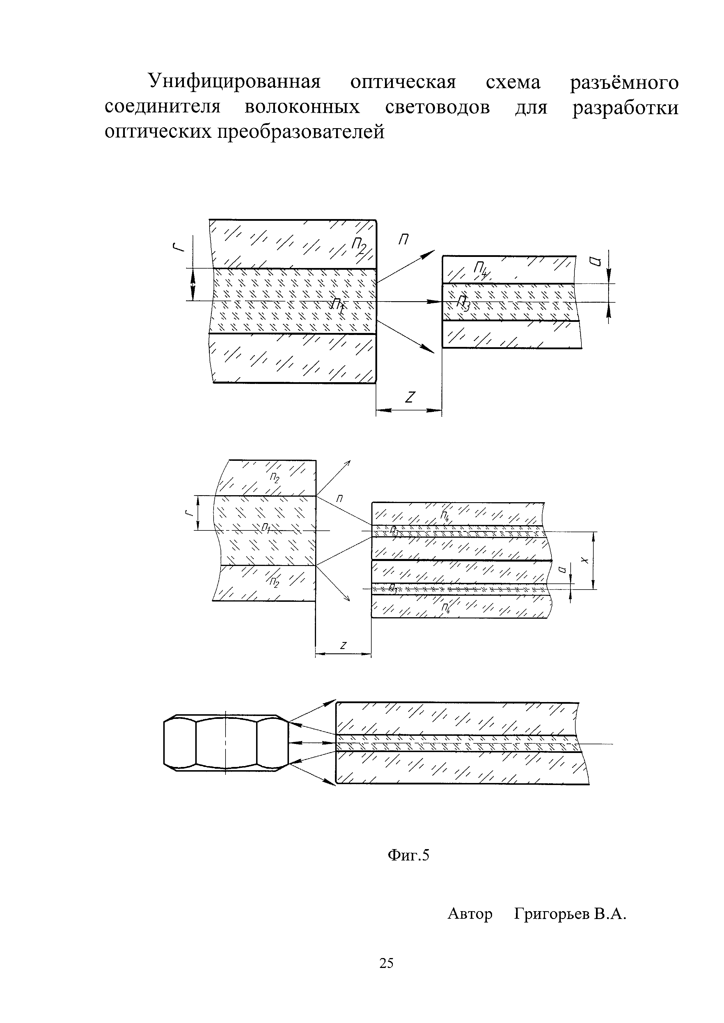 Унифицированная оптическая схема разъемного соединителя волоконных световодов для разработки оптических преобразователей