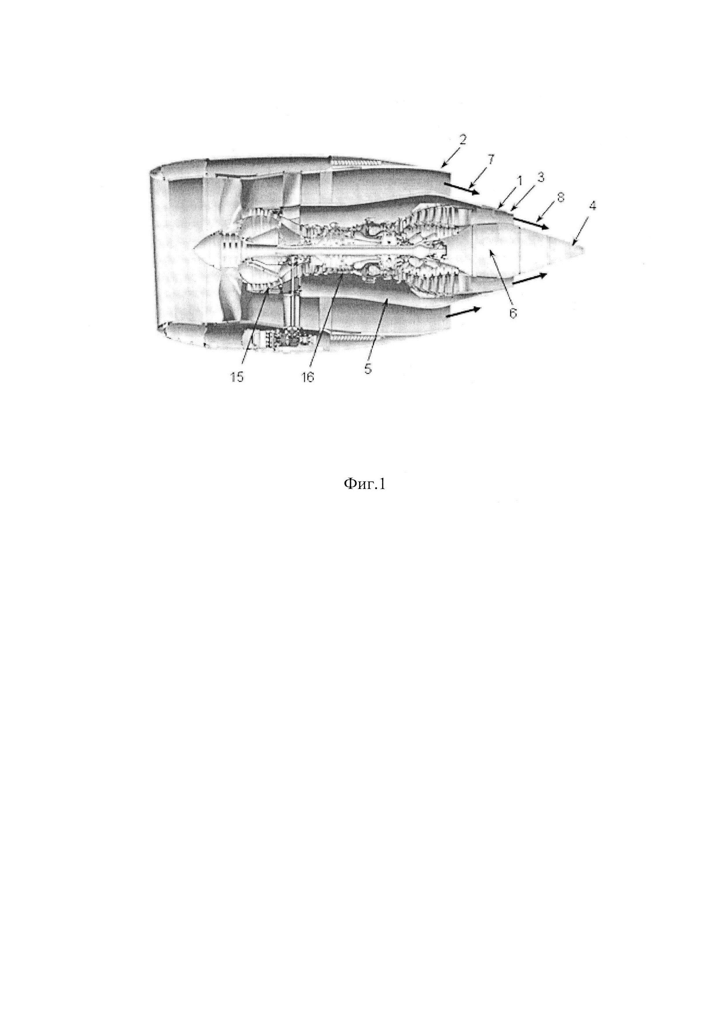 Турбореактивный двухконтурный двигатель с раздельным истечением потоков из сопел