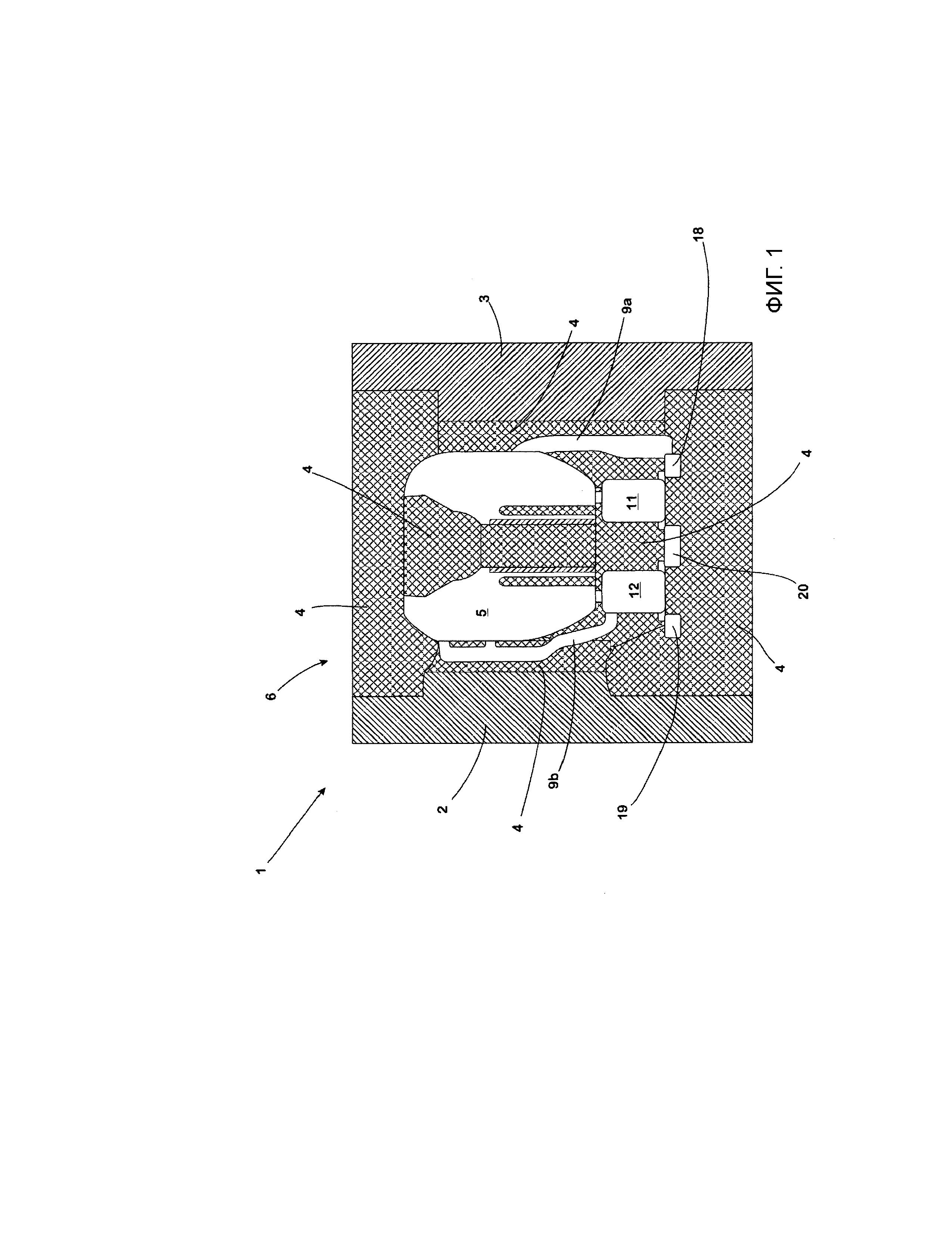 Литейная форма для литья сложных фасонных отливок и применение указанной литейной формы