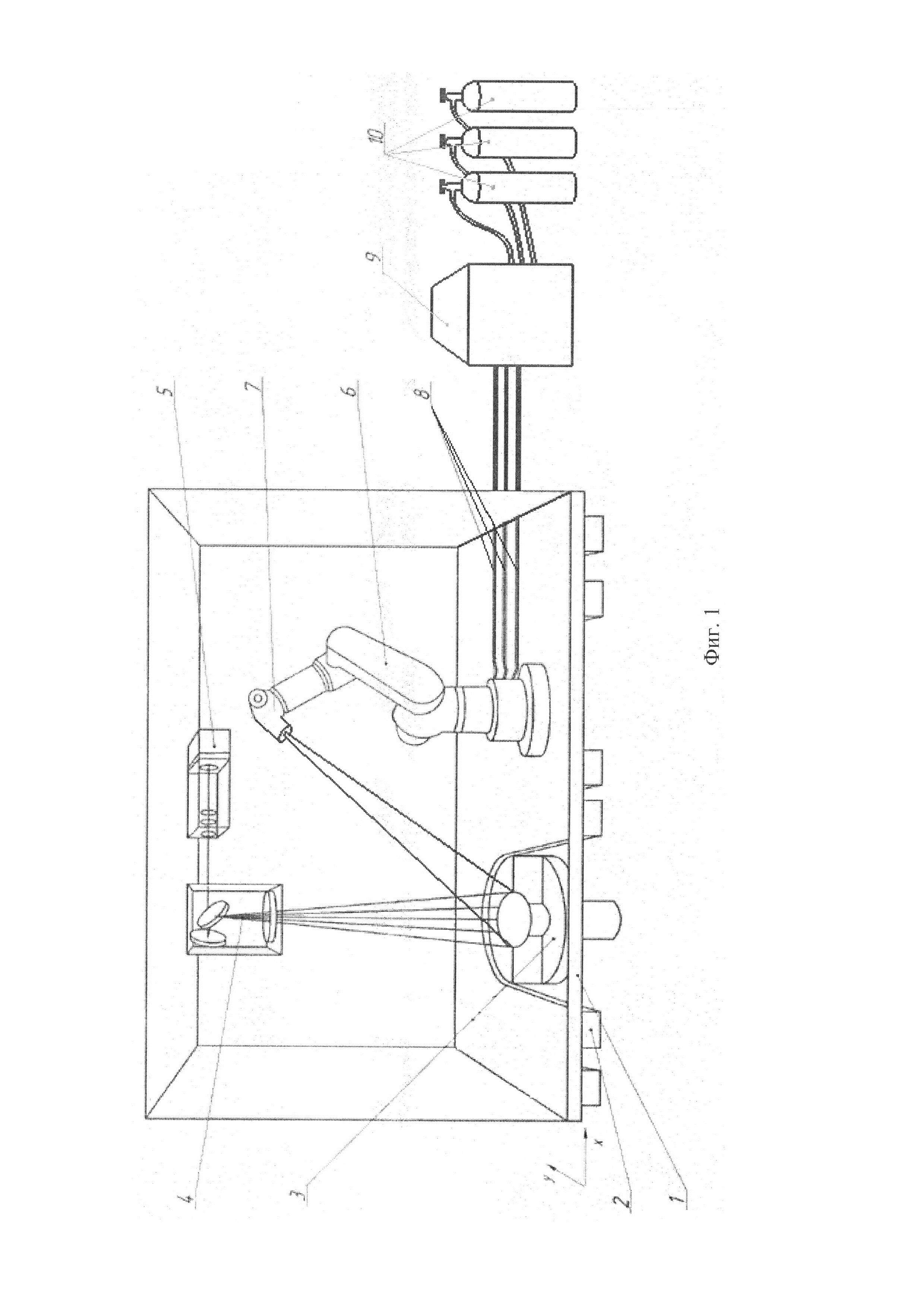 Установка для получения детали из металлического порошкового материала