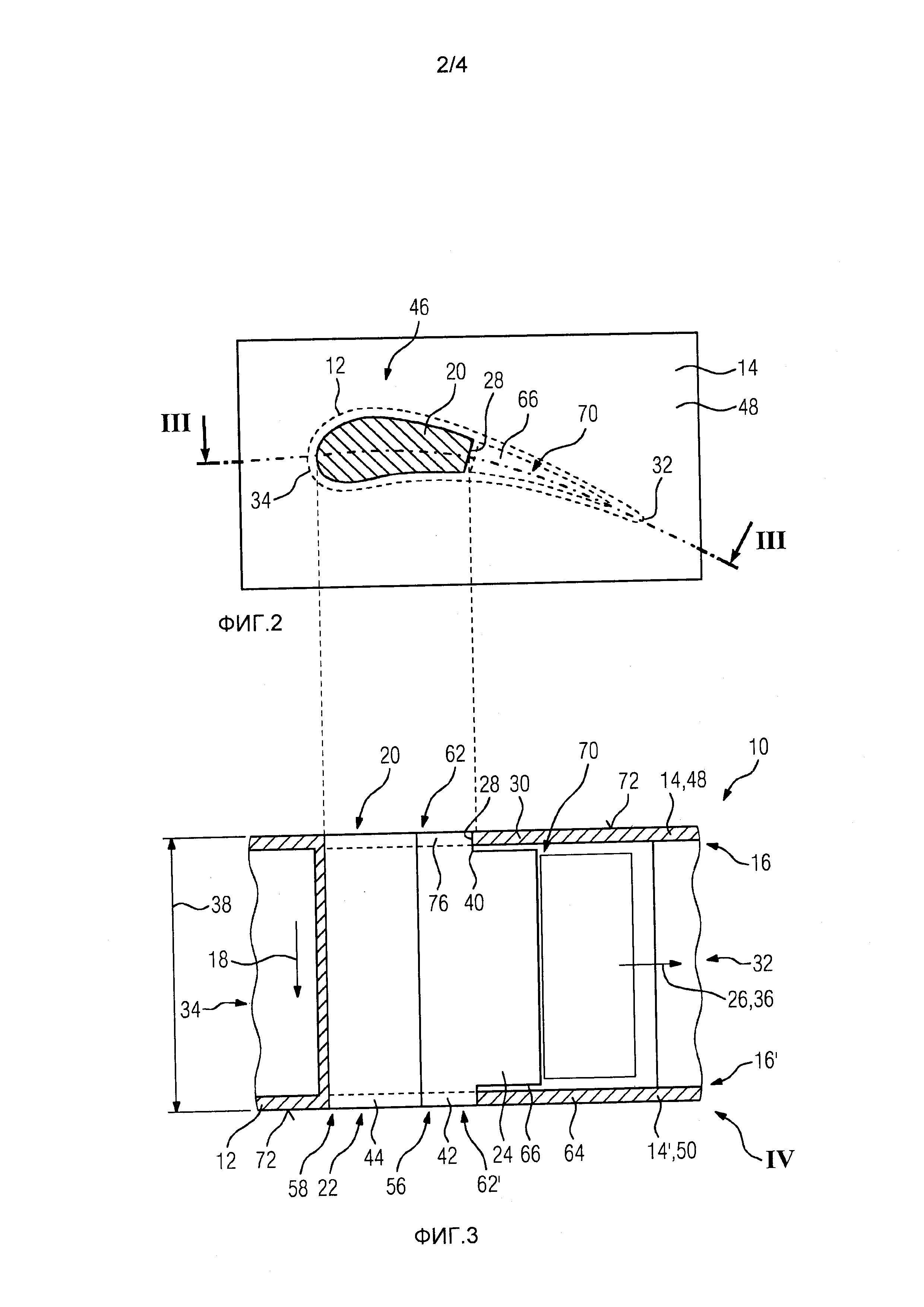 Принудительное охлаждение турбинных лопаток или лопастей