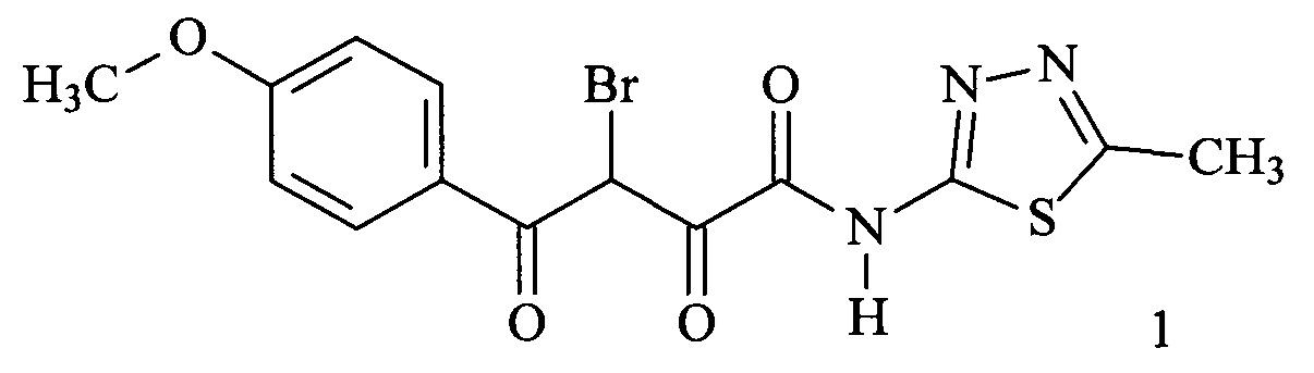 3-Бромо-4-(4-метоксифенил)-N-(5-метил-1,3,4-тиадиазол-2-ил)-2,4-диоксобутанамид, обладающий антимикробным действием