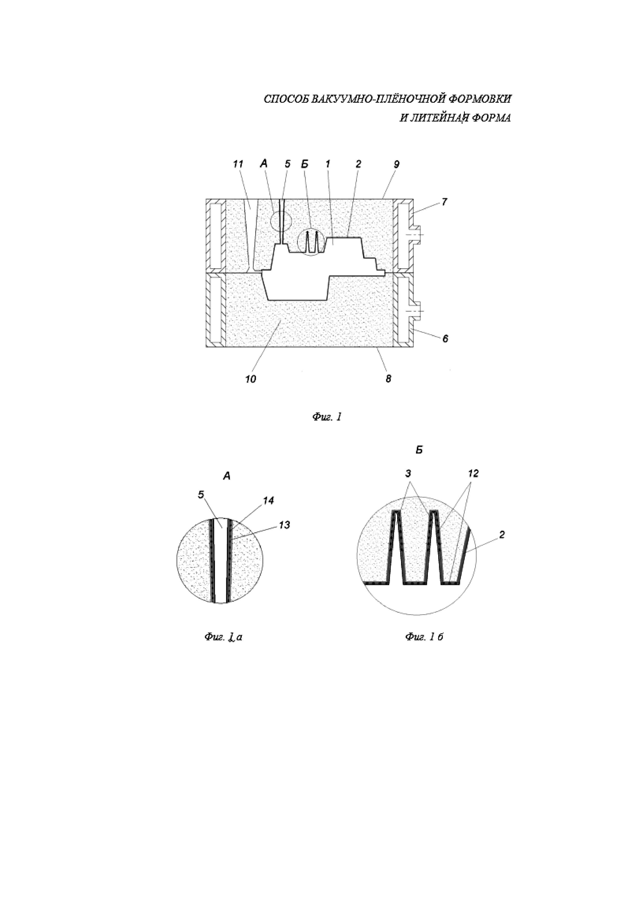 Способ вакуумно-пленочной формовки и литейная форма