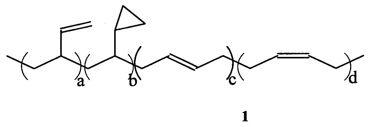 Полимерные продукты, содержащие циклопропановые группы
