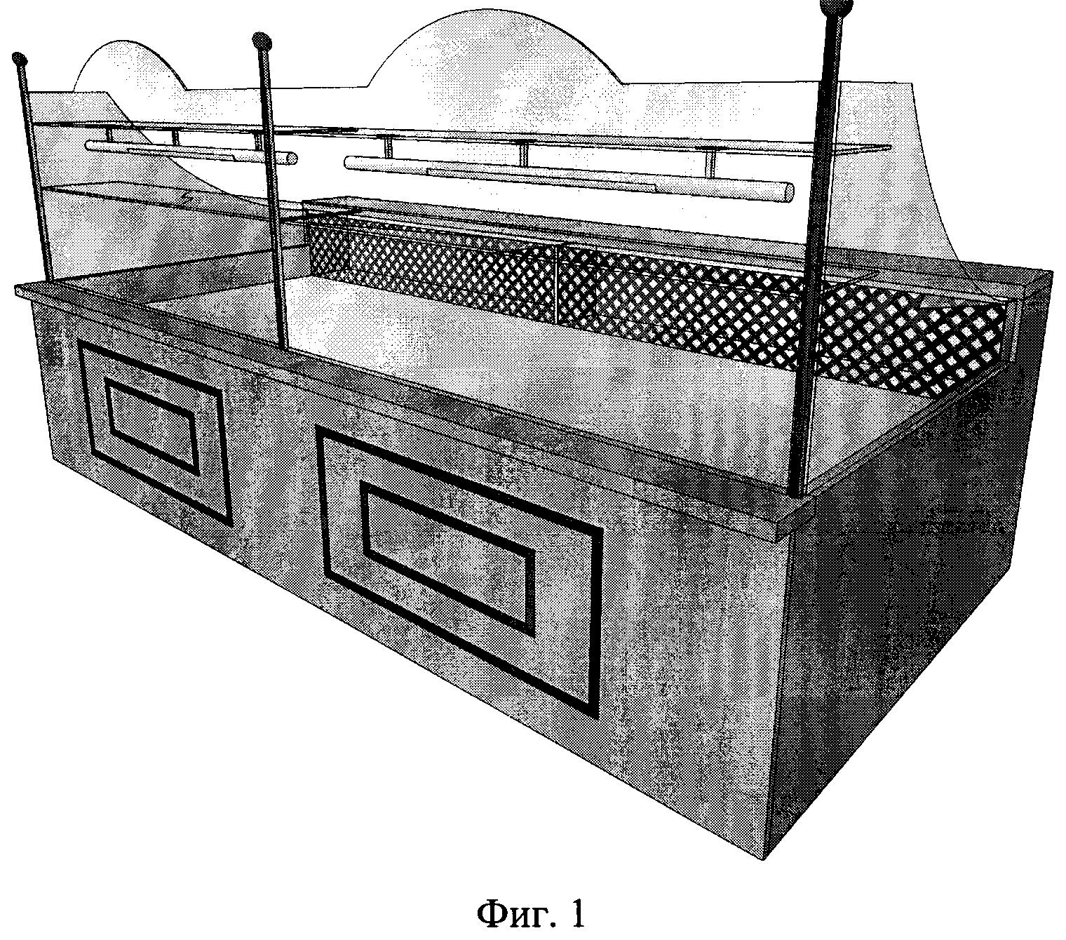 Охлаждаемая витрина для экспозиции кондитерских изделий