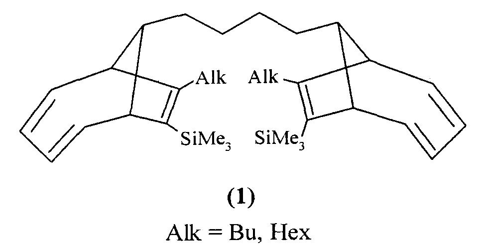 Способ получения si-содержащих бис-(эндо-бицикло[4.2.1]нона-2,4,7-триенов)