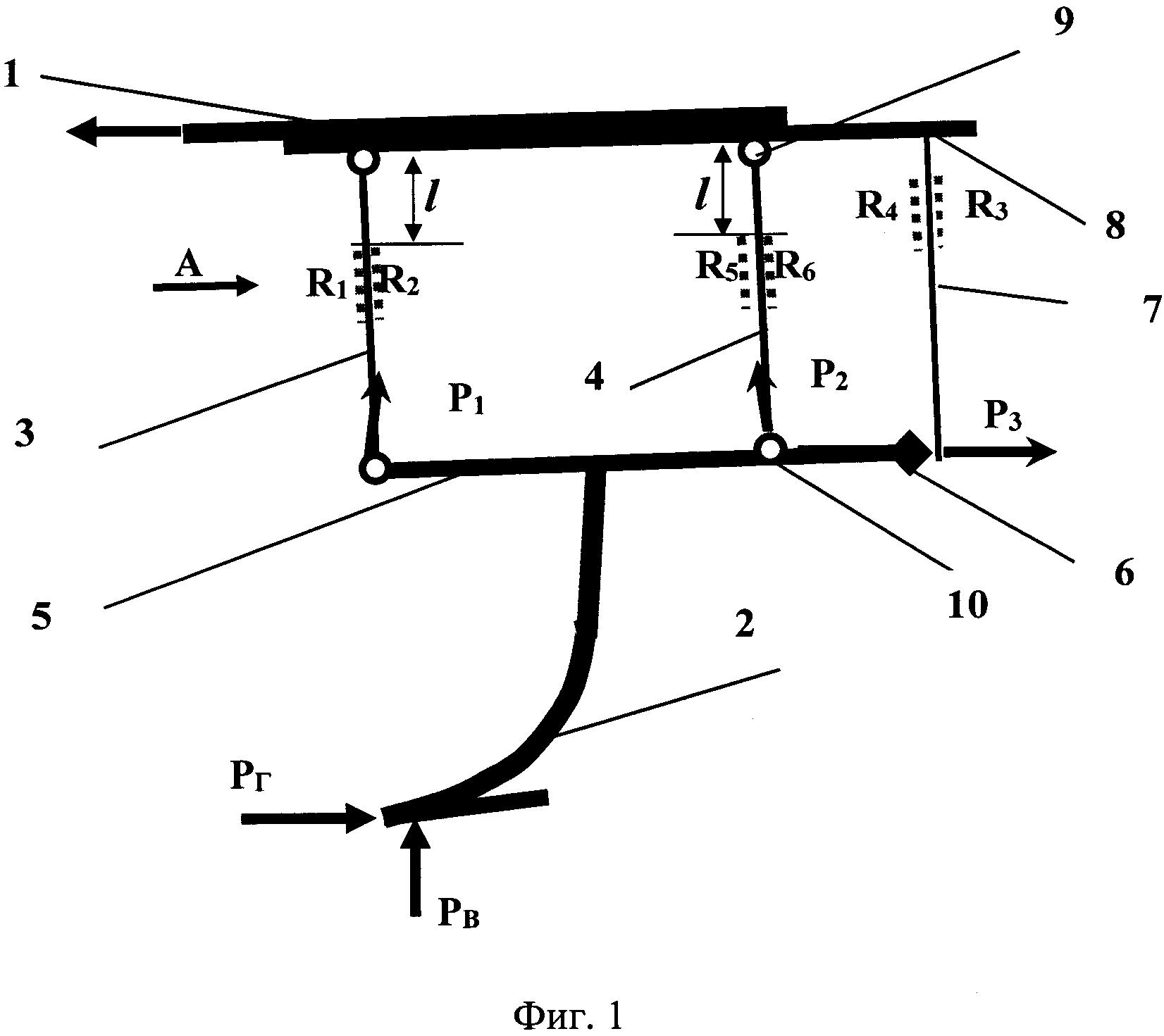 Устройство для измерения вертикального и горизонтального усилия на рабочий орган сельскохозяйственного орудия