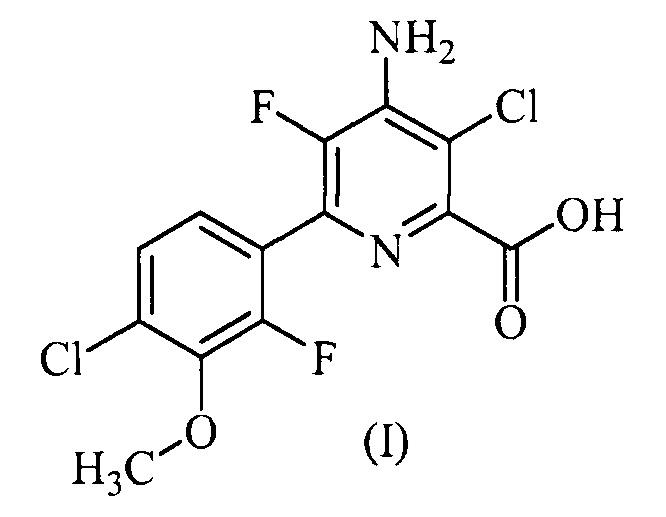 Гербицидные композиции, содержащие 4-амино-3-хлор-5-фтор-6-(4-хлор-2-фтор-3-метоксифенил) пиридин-2-карбоновую кислоту
