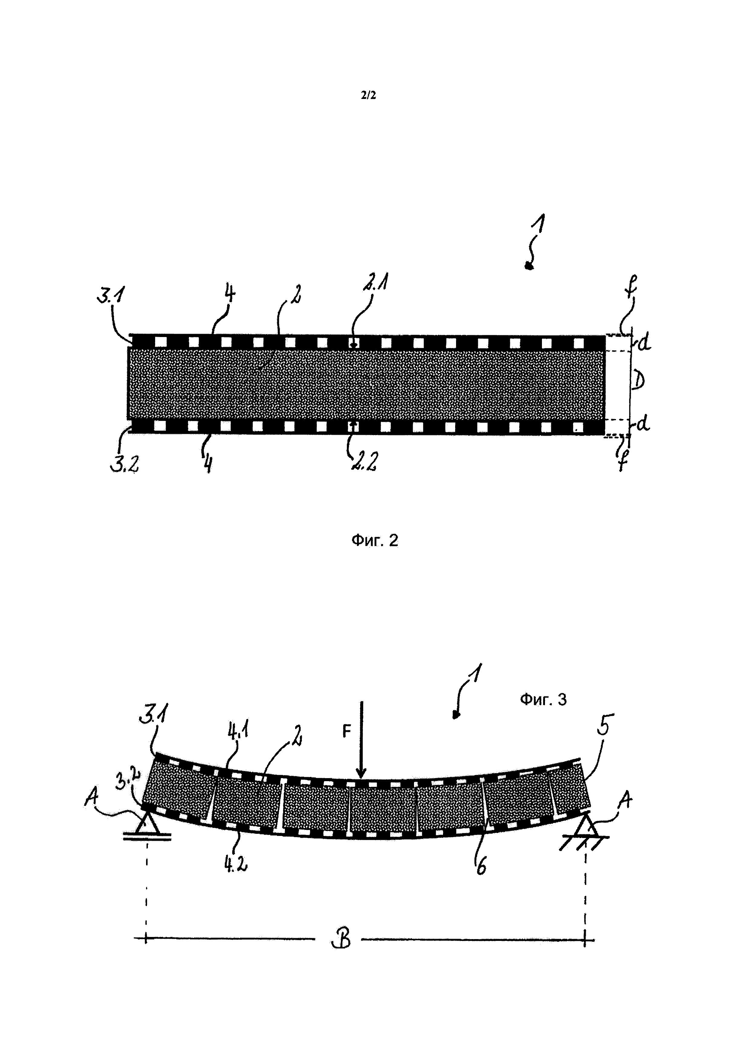 Комбинированная панель с опорной сердцевиной из ячеистого стекла