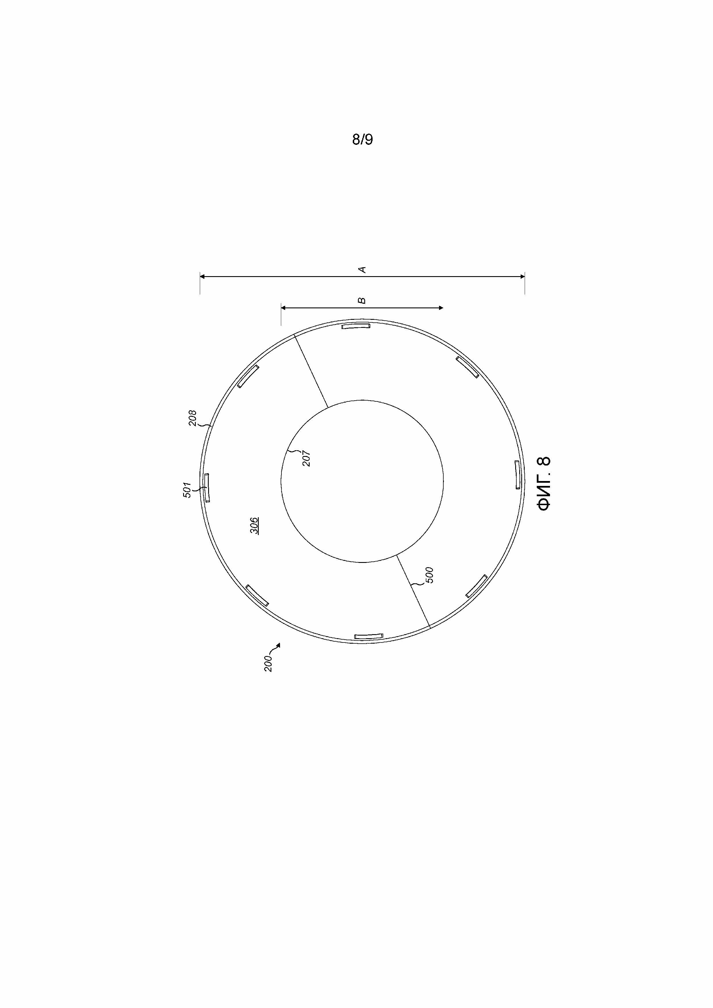 Гибкий воронкообразный элемент для направляющего рукава для материала