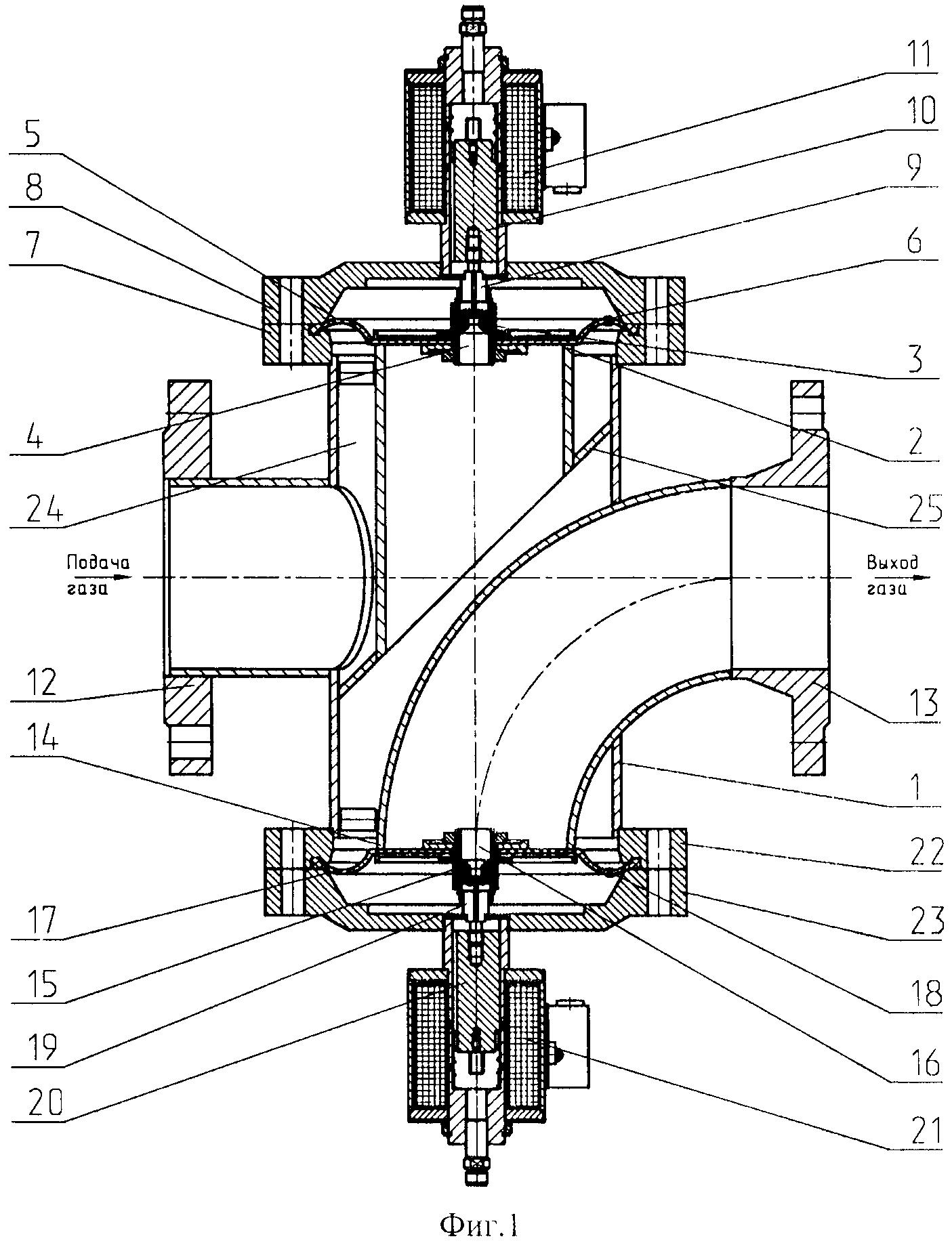 Клапан электромагнитный двойной