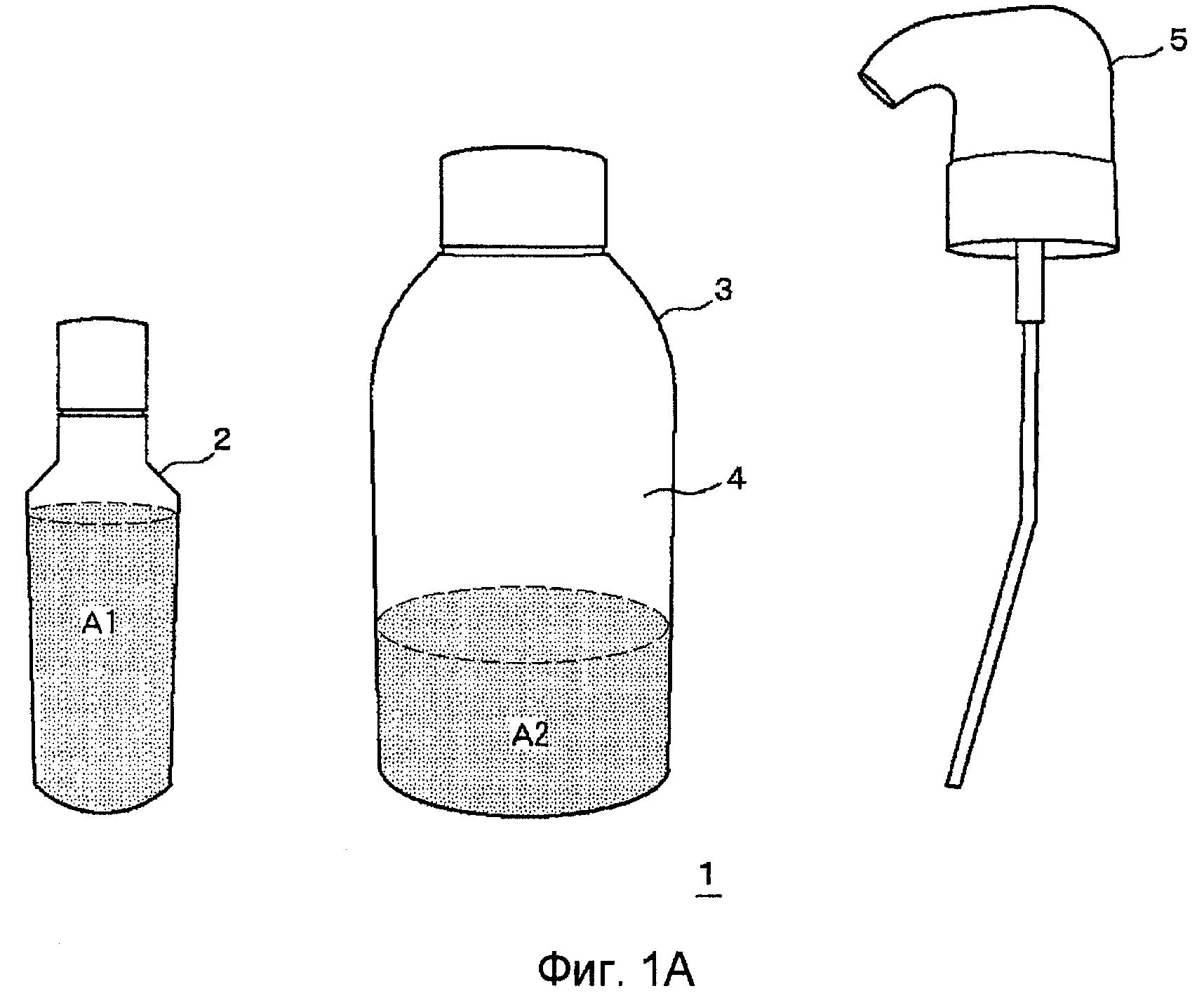 Двухкомпонентная композиция для окрашивания или обесцвечивания волос