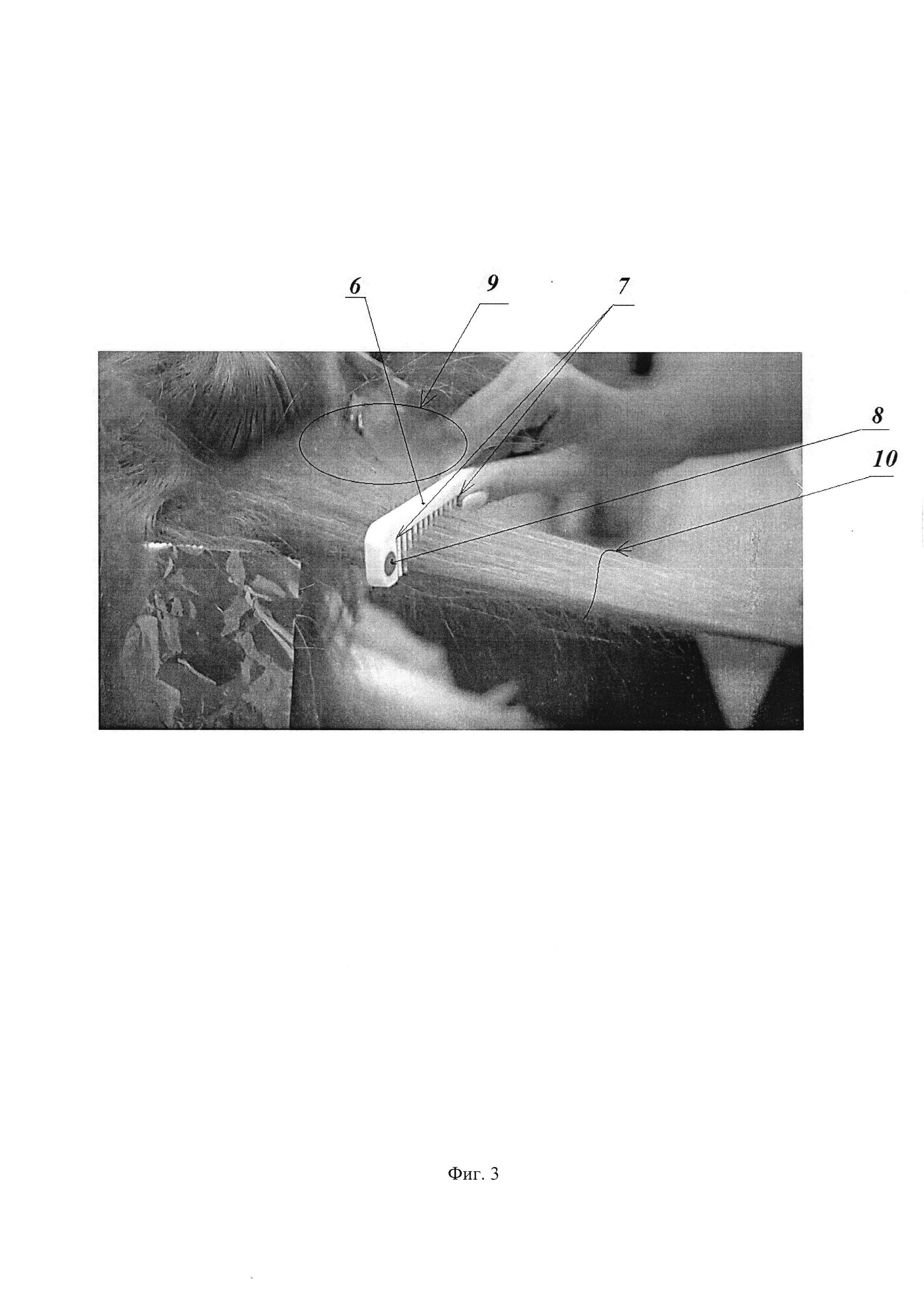Способ окрашивания прядей волос и приспособление для реализации этого способа