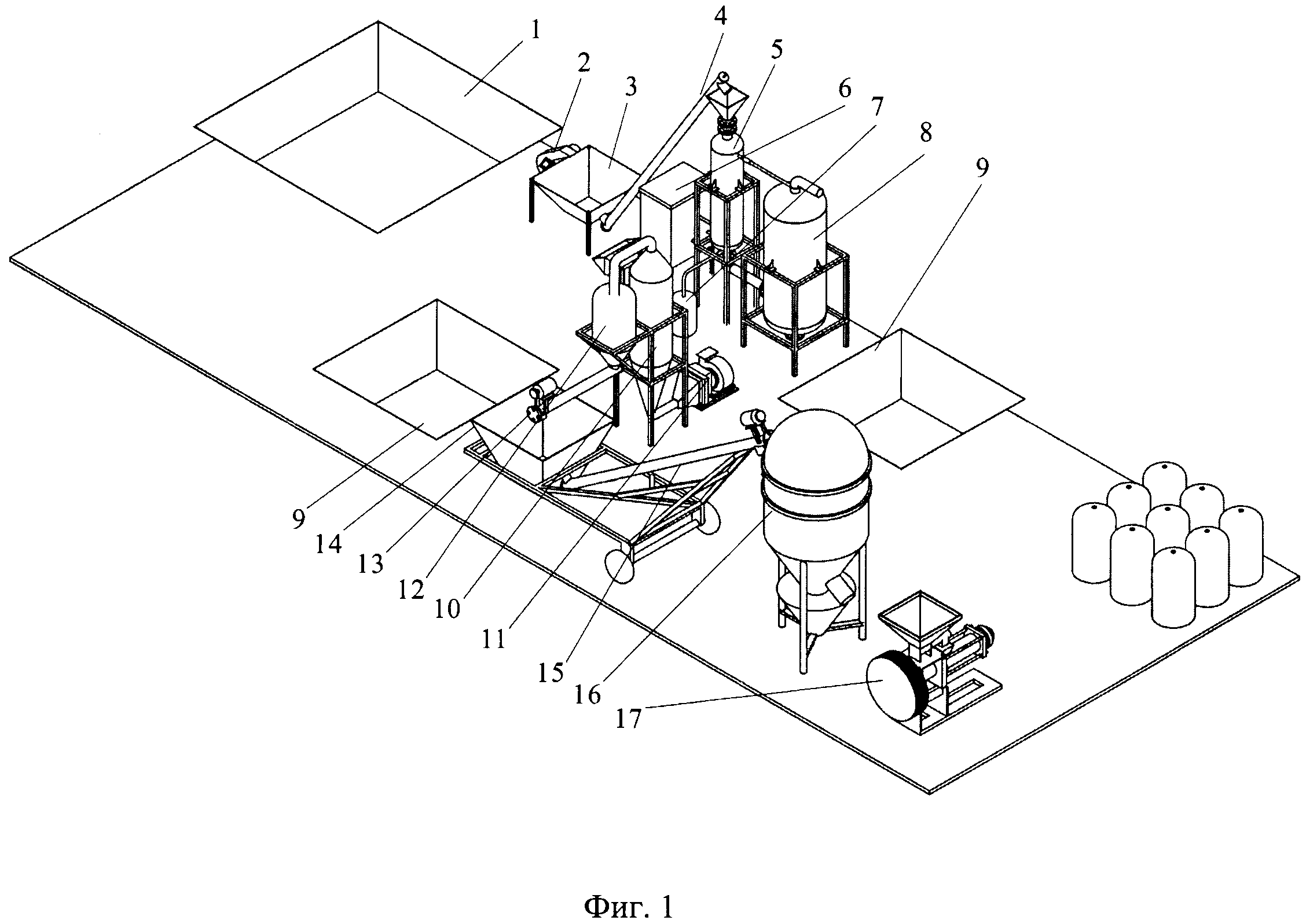 Линия для получения полнорационного комбикорма на основе растительной биомассы