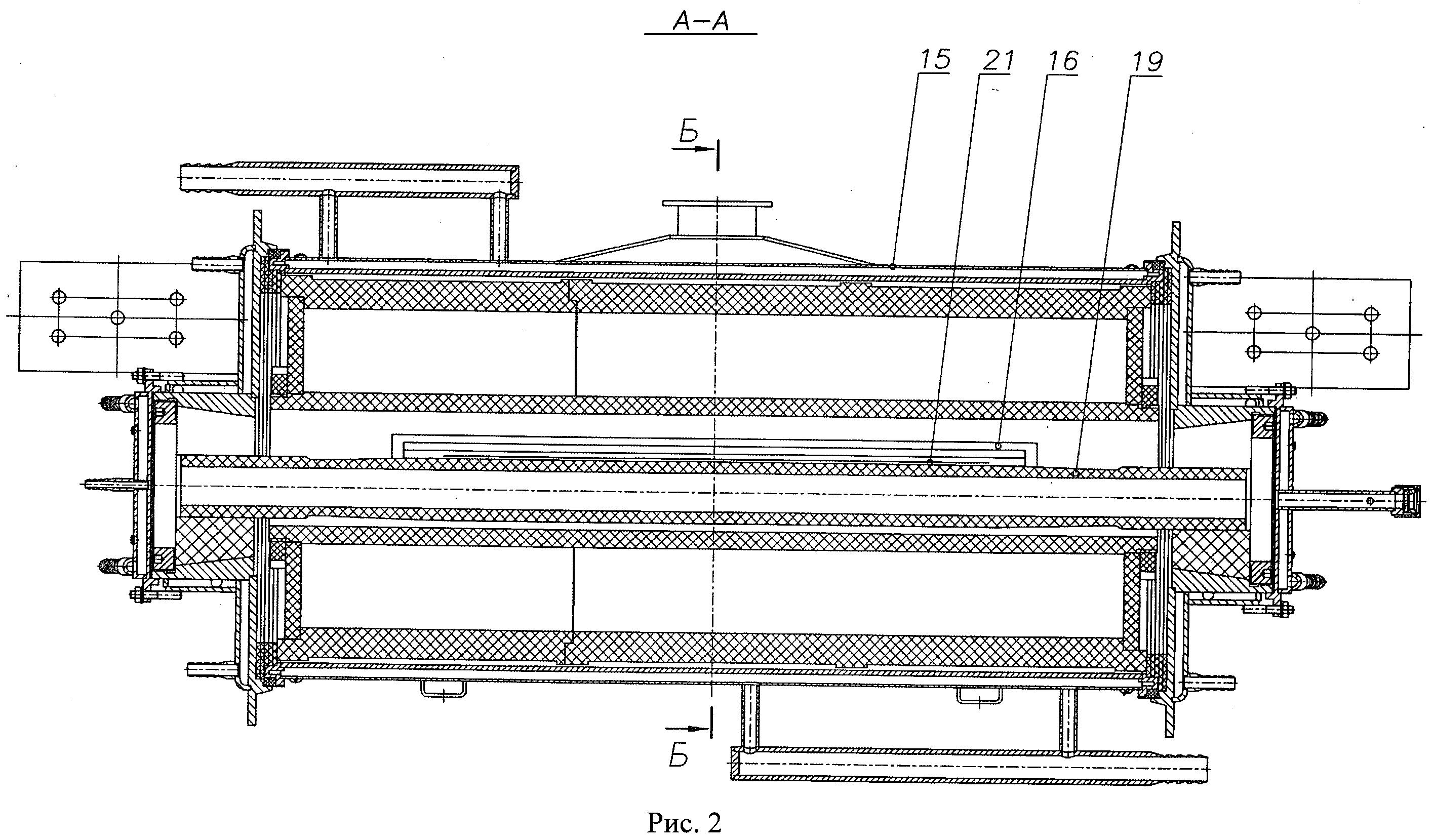 Установка для термической обработки углеродсодержащих волокнистых материалов