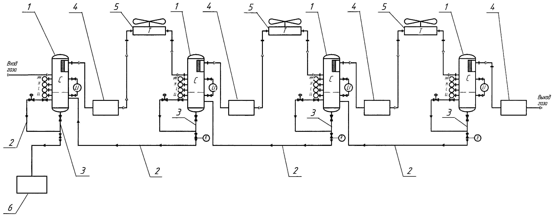 Поршневая компрессорная установка для компримирования газа