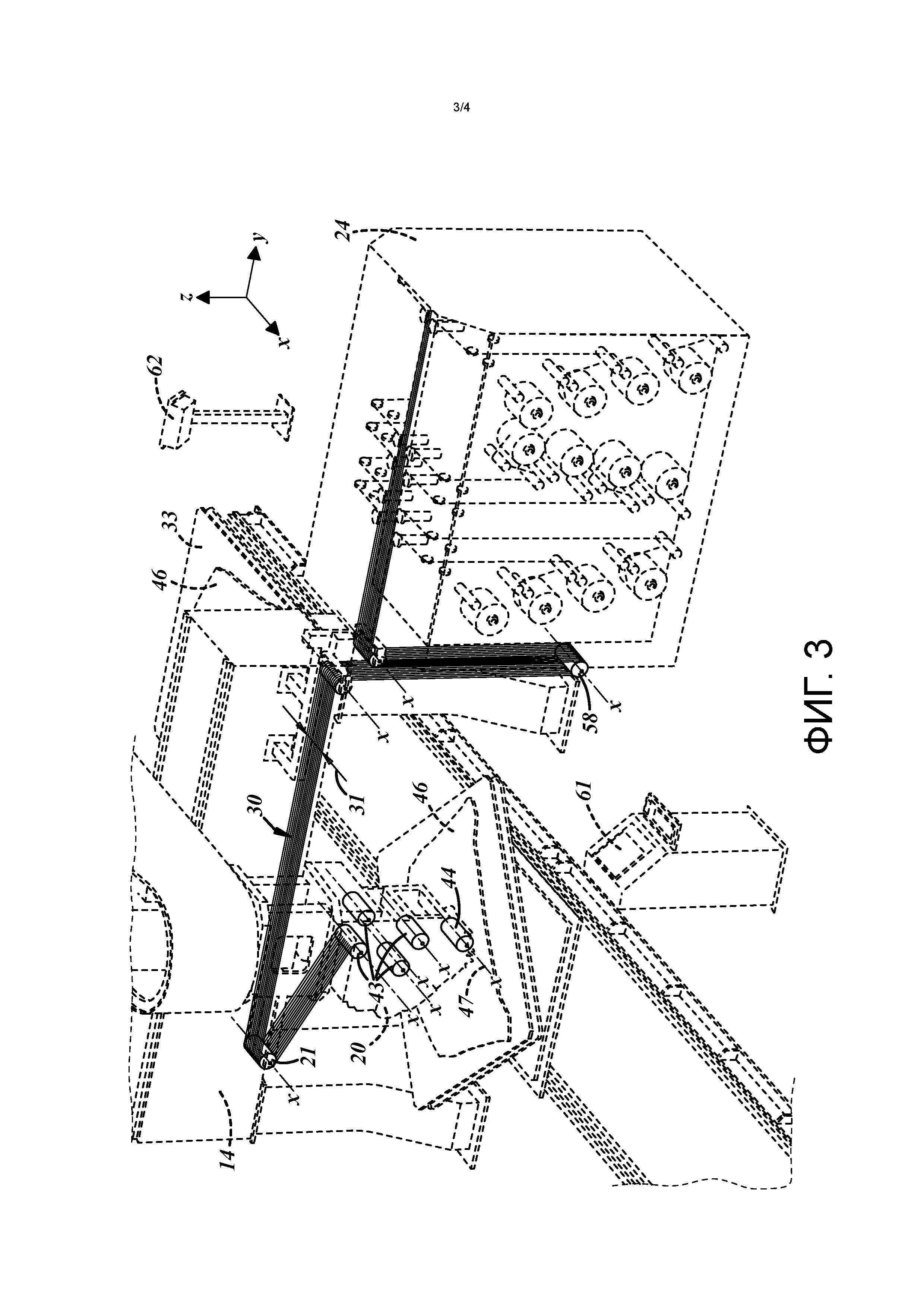 Малогабаритная четырехосная машина для укладки волокон