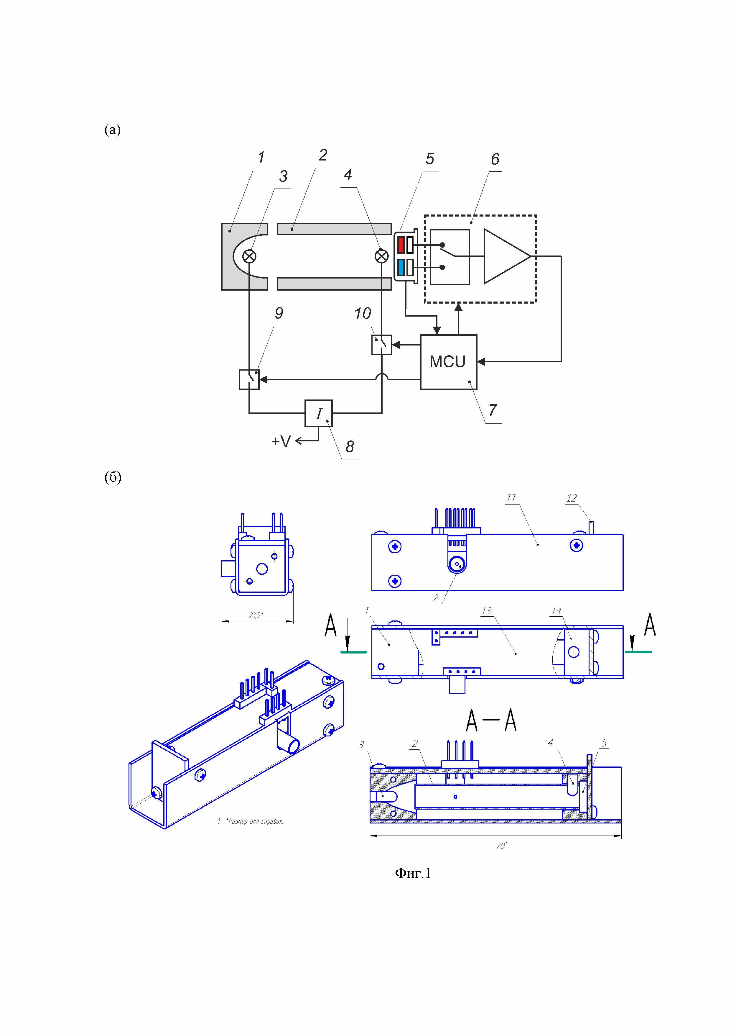 Инфракрасный оптический газоанализатор c автоматической температурной коррекцией