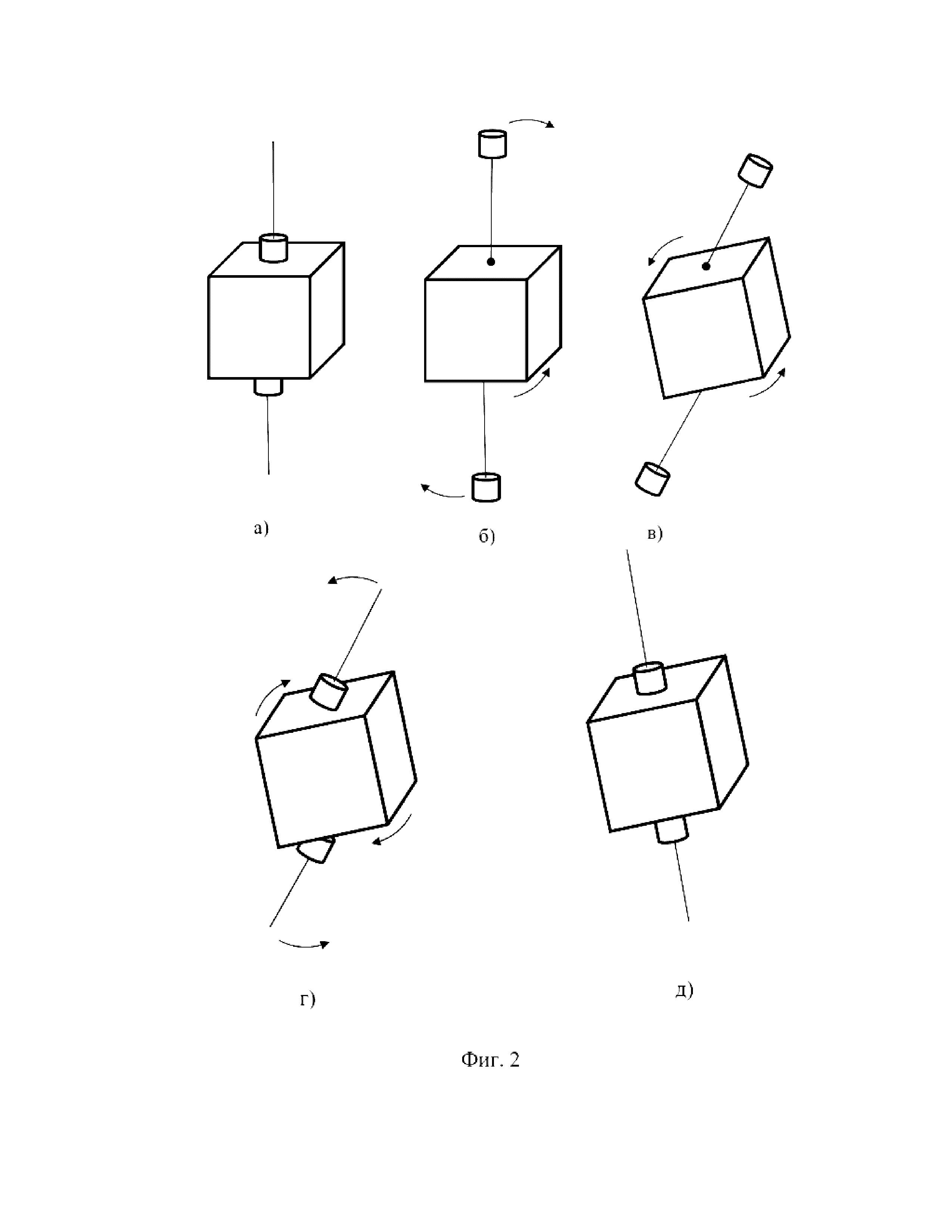 Способ пространственной ориентации микроспутника
