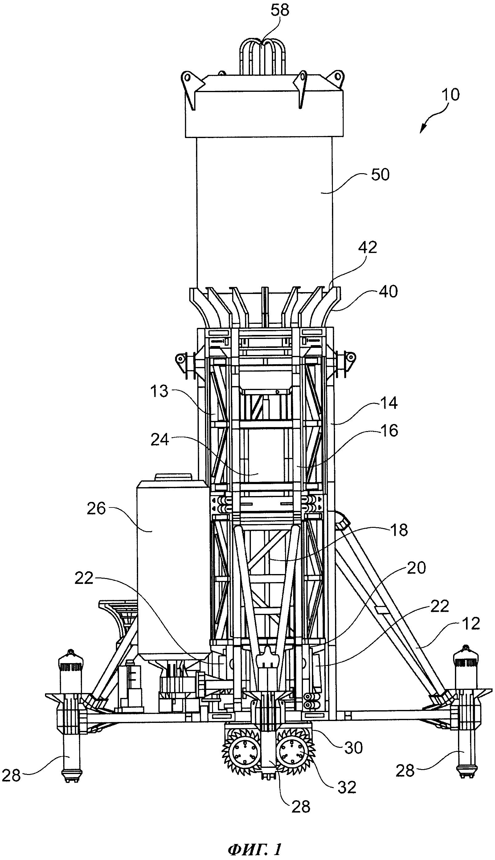 Устройство для подводной добычи и способ добычи материала-основы